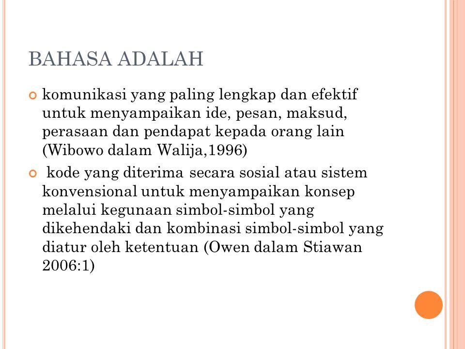 BAHASA ADALAH