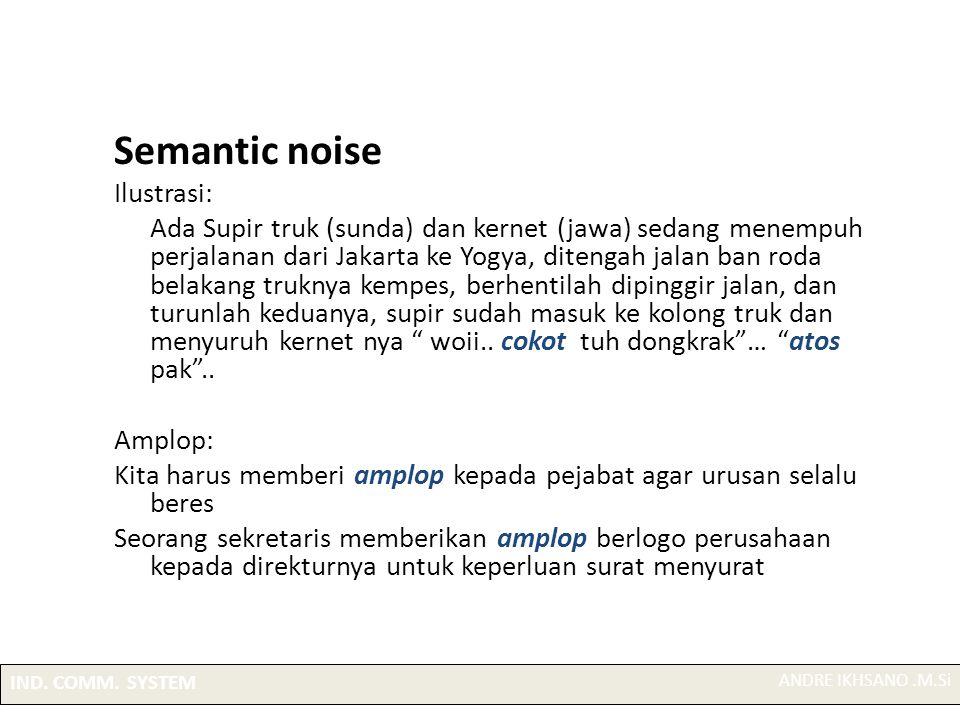 Semantic noise Ilustrasi: