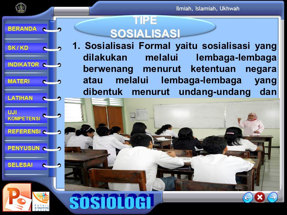 TIPE SOSIALISASI