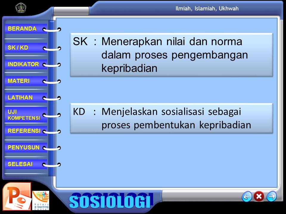 SK : Menerapkan nilai dan norma dalam proses pengembangan kepribadian