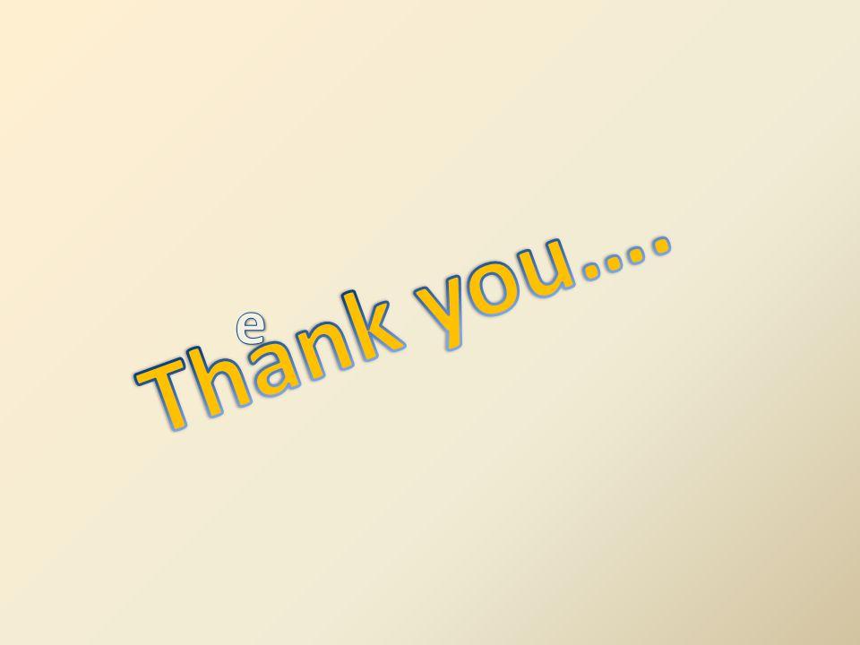Thank you…. e