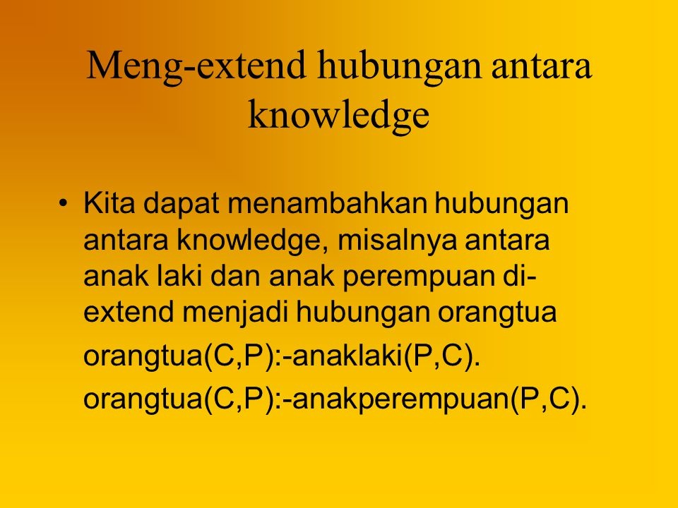 Meng-extend hubungan antara knowledge