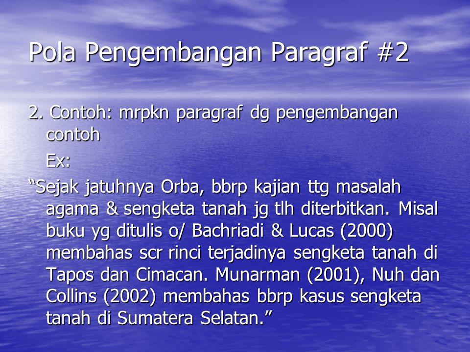 Pola Pengembangan Paragraf #2
