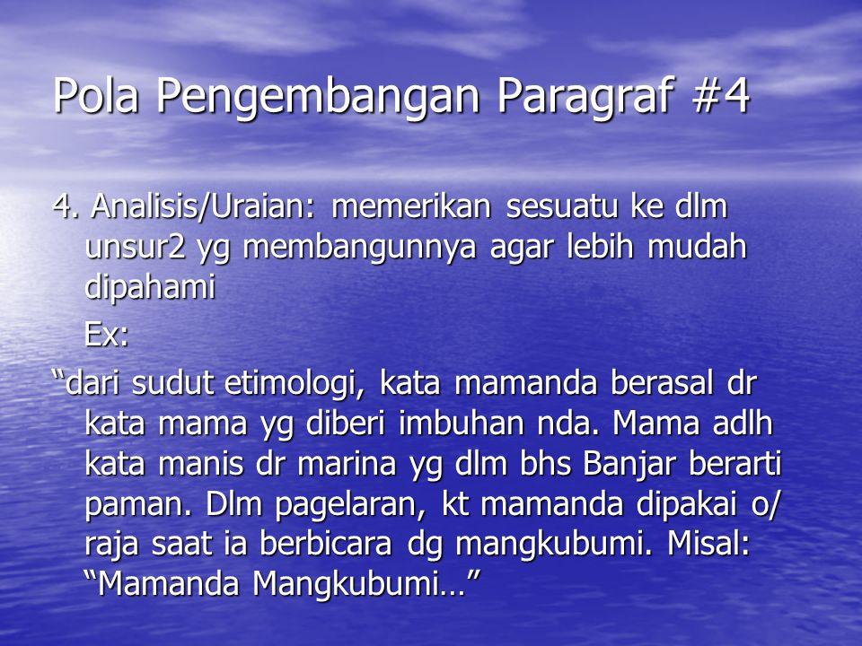 Pola Pengembangan Paragraf #4