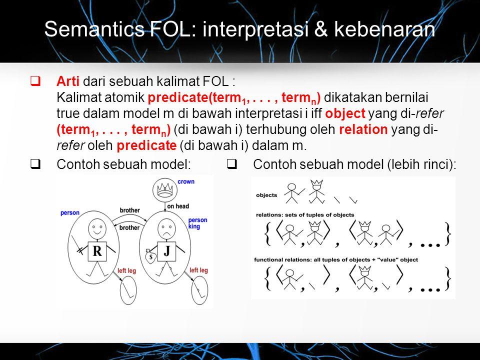 Semantics FOL: interpretasi & kebenaran