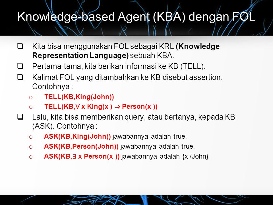 Knowledge-based Agent (KBA) dengan FOL