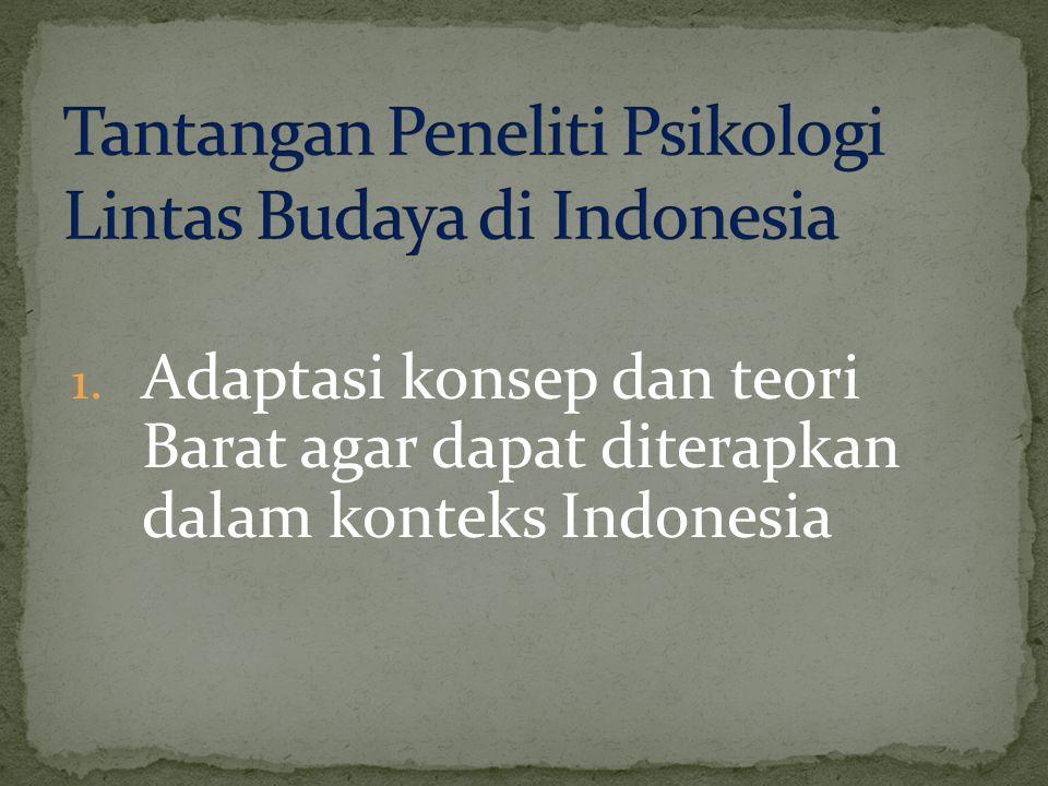 Tantangan Peneliti Psikologi Lintas Budaya di Indonesia