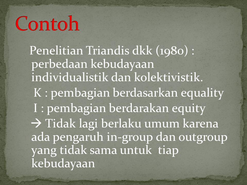 Contoh K : pembagian berdasarkan equality
