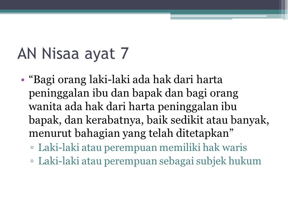 AN Nisaa ayat 7