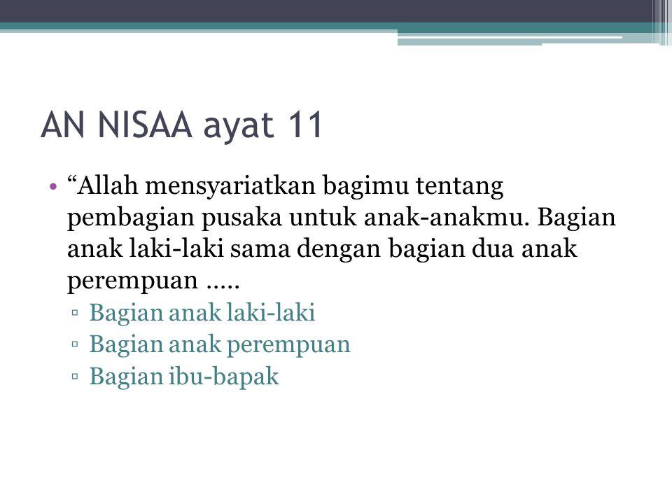 AN NISAA ayat 11