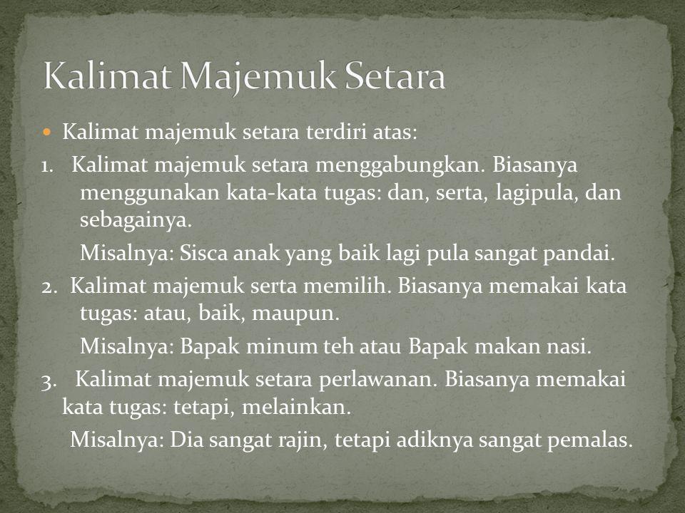 Kalimat Majemuk Setara