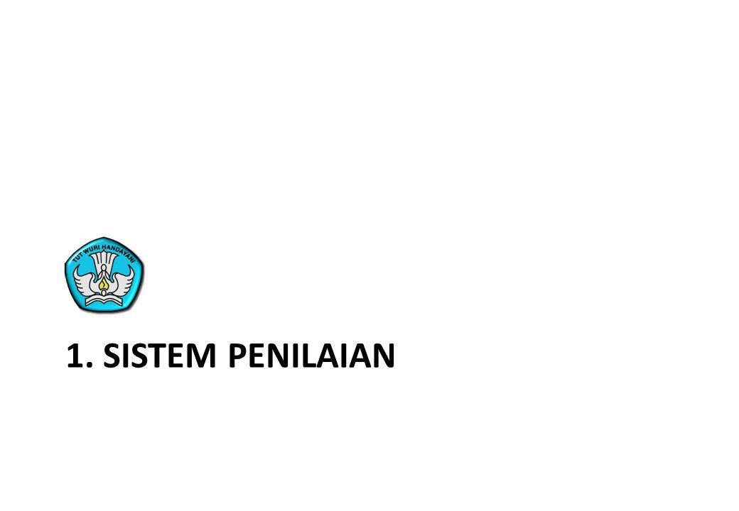 1. sistem penilaian