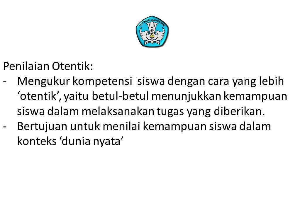 Penilaian Otentik: