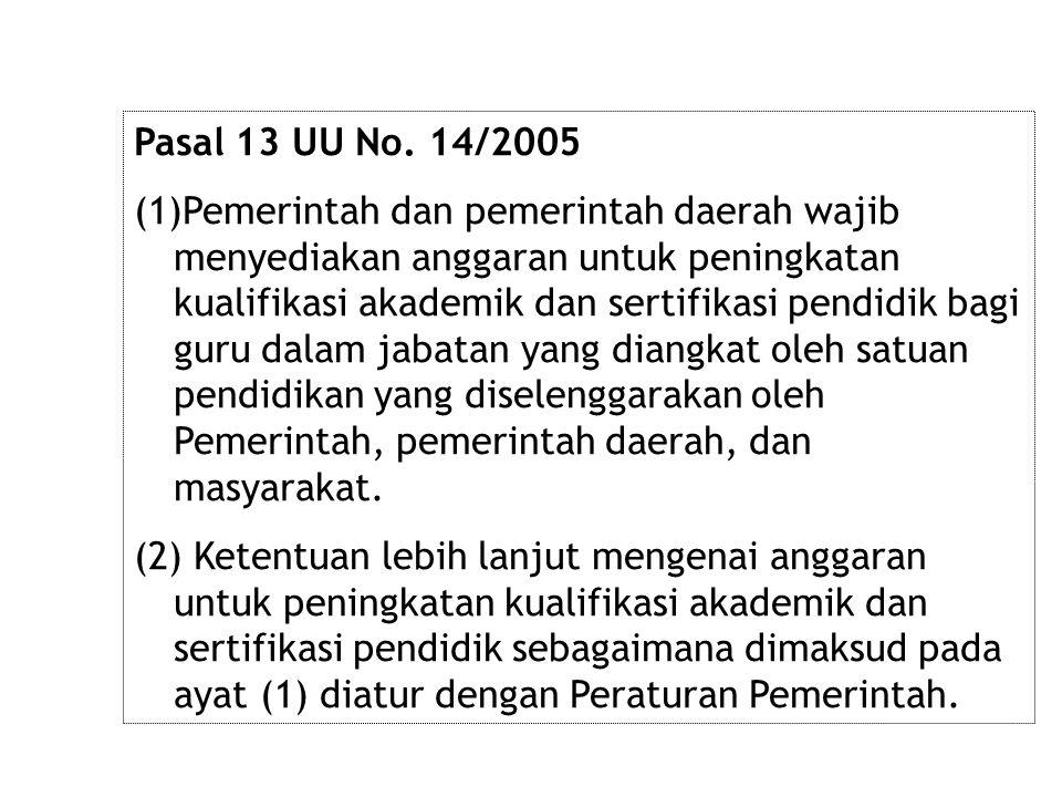 Pasal 13 UU No. 14/2005
