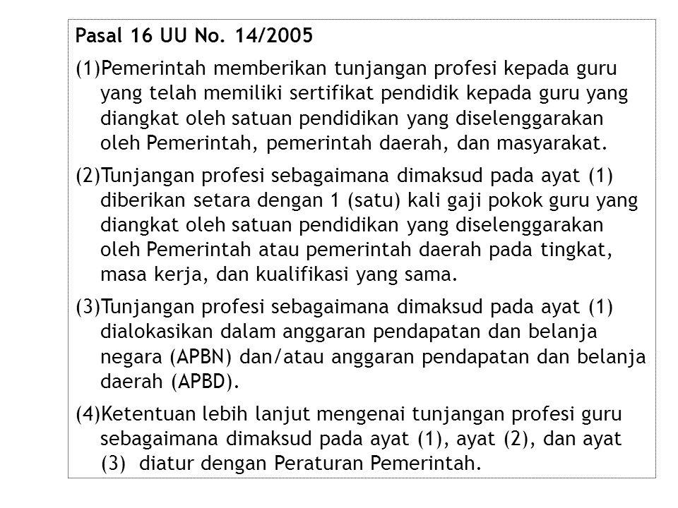 Pasal 16 UU No. 14/2005
