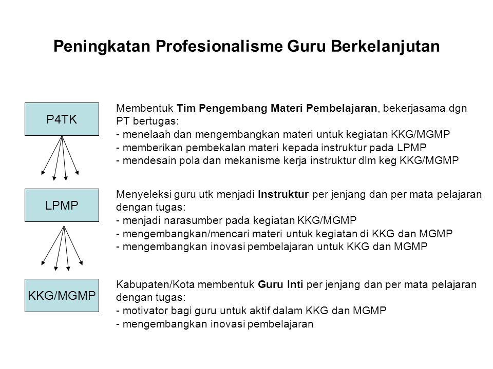 Peningkatan Profesionalisme Guru Berkelanjutan