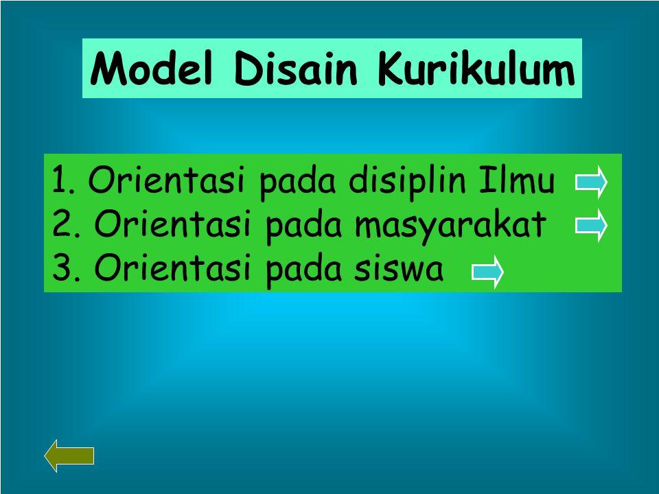 Model Disain Kurikulum