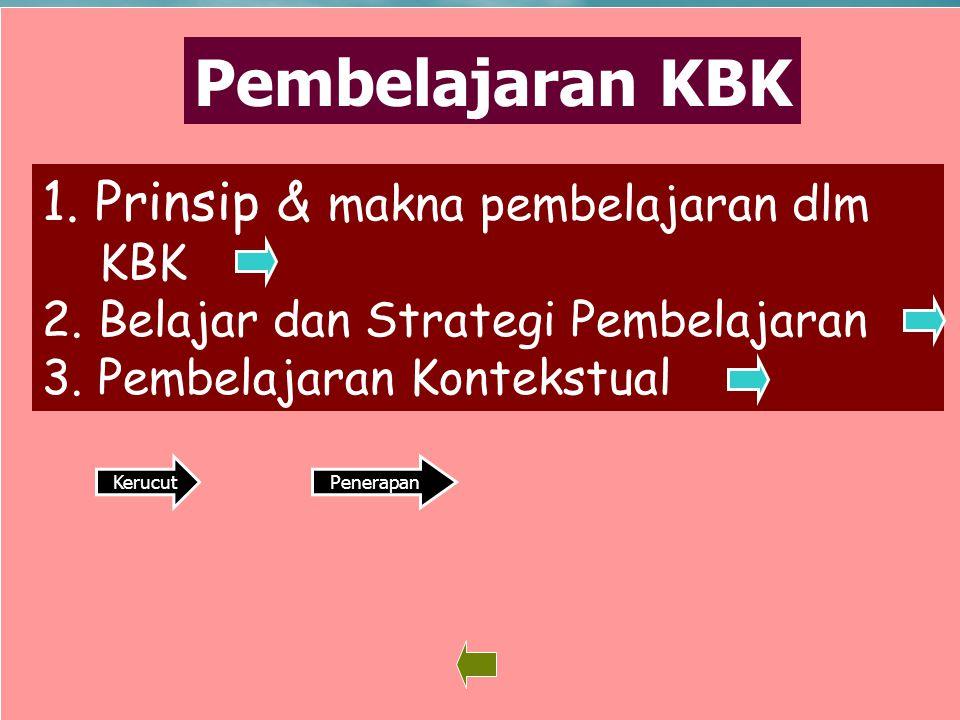 Pembelajaran KBK Prinsip & makna pembelajaran dlm KBK