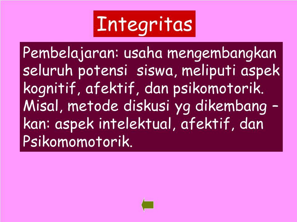 Integritas Pembelajaran: usaha mengembangkan