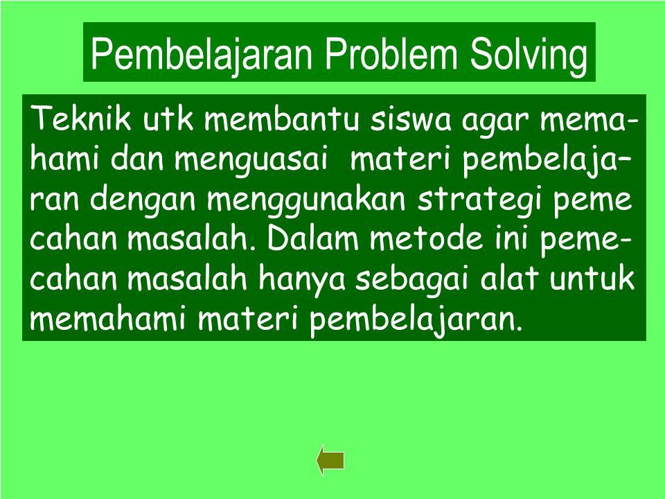 Pembelajaran Problem Solving