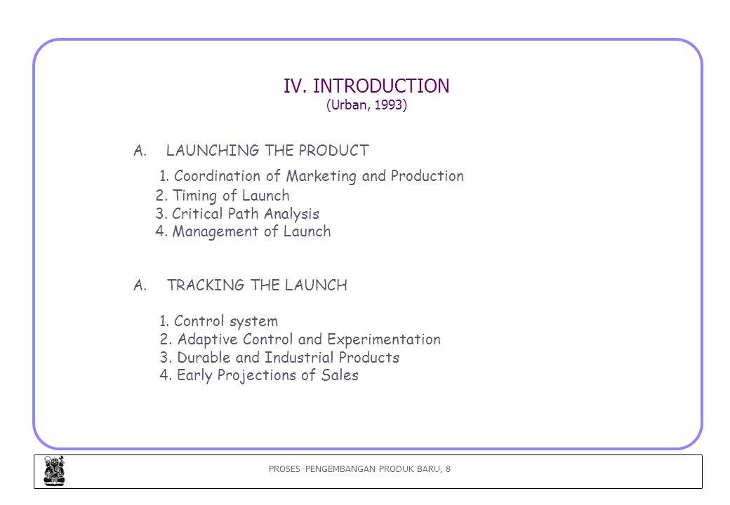 IV. INTRODUCTION (Urban, 1993)