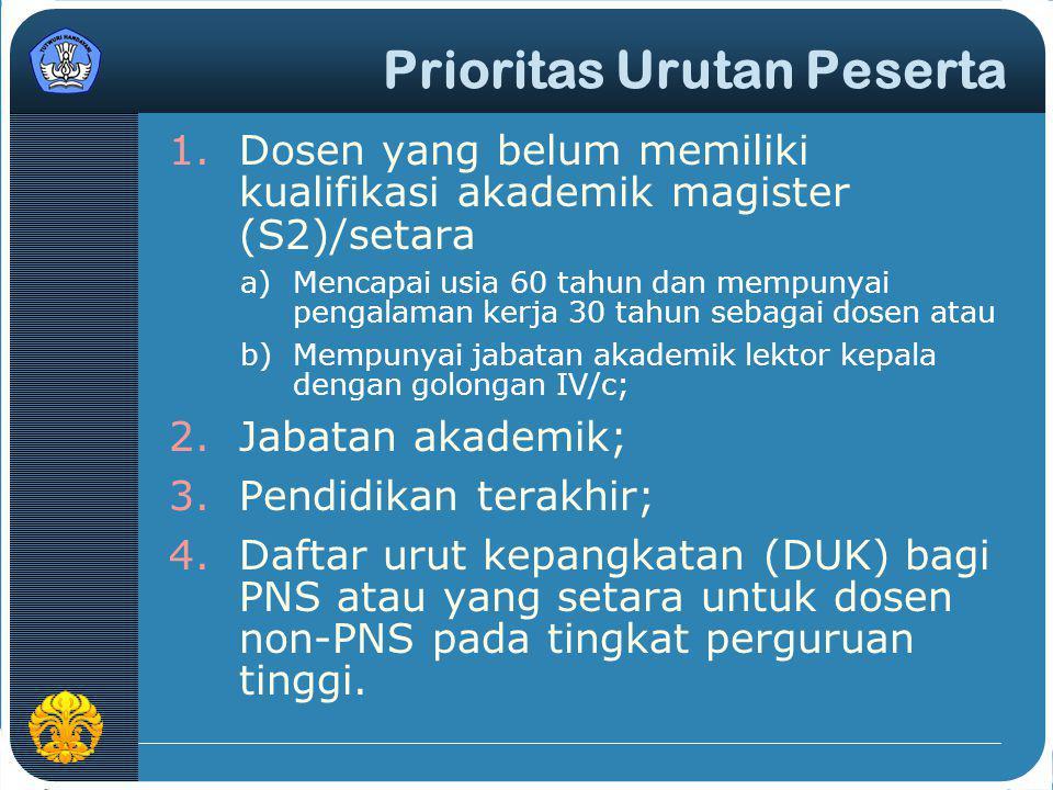 Prioritas Urutan Peserta