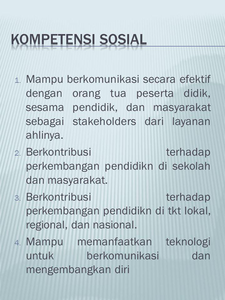 KOMPETENSI SOSIAL