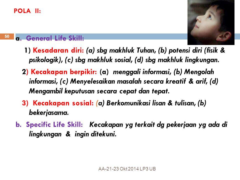POLA II: a. General Life Skill: