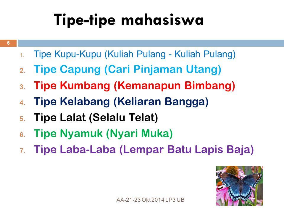 Tipe-tipe mahasiswa Tipe Capung (Cari Pinjaman Utang)