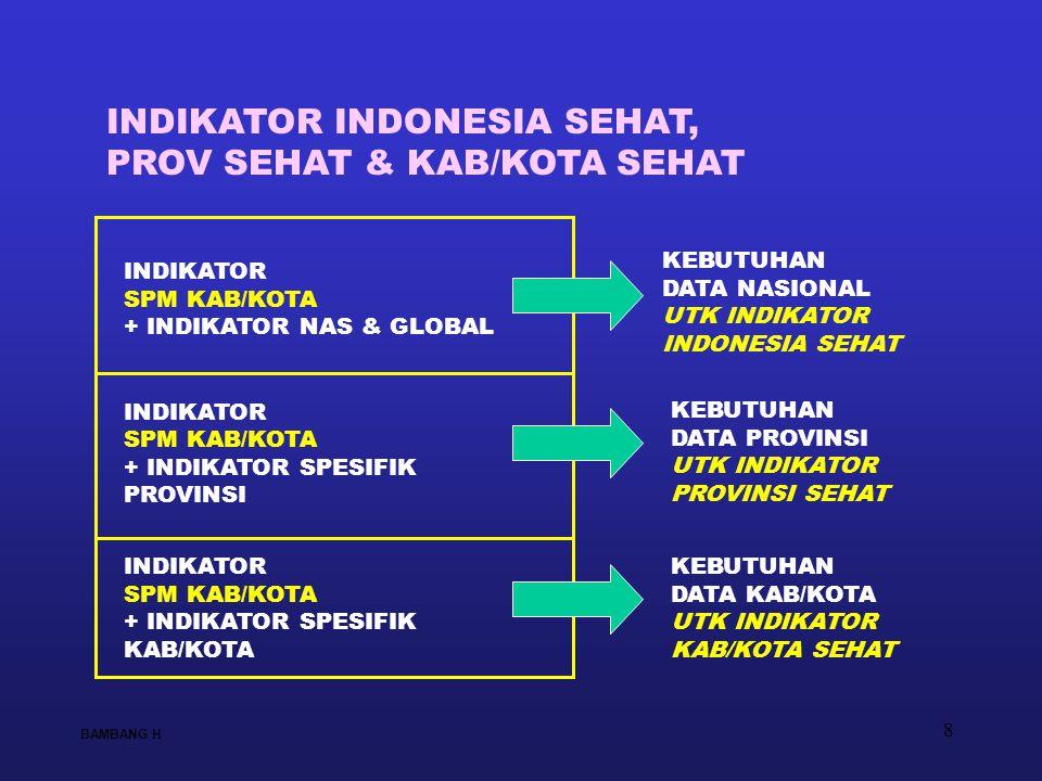 INDIKATOR INDONESIA SEHAT, PROV SEHAT & KAB/KOTA SEHAT