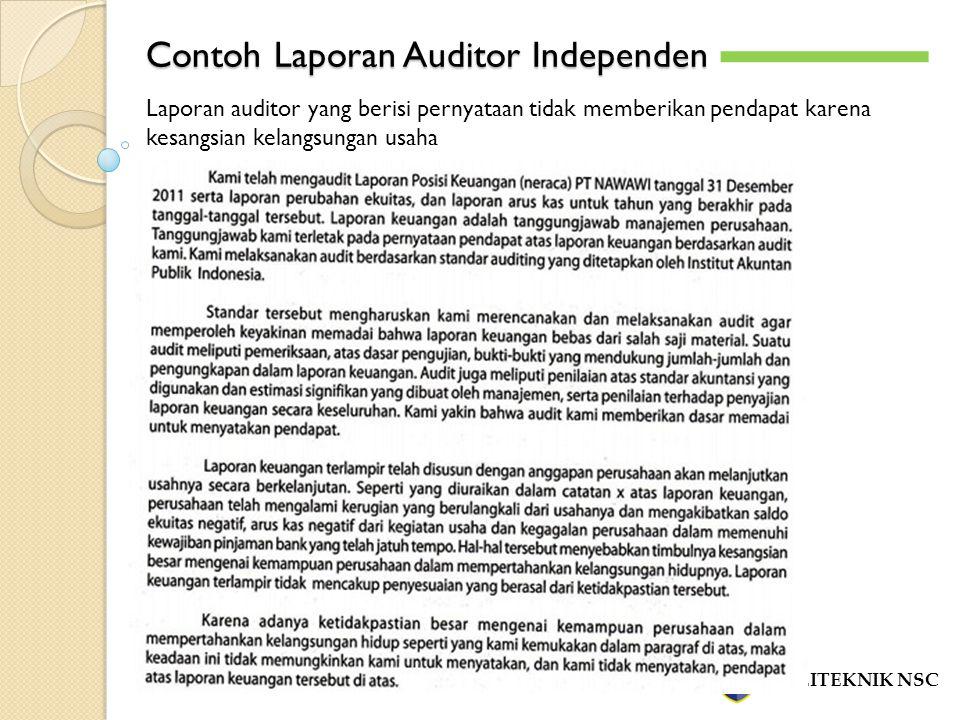 Contoh Laporan Auditor Independen