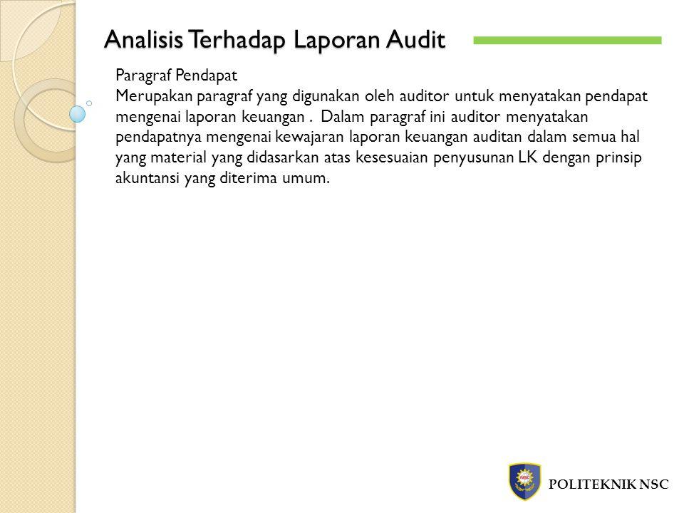 Analisis Terhadap Laporan Audit