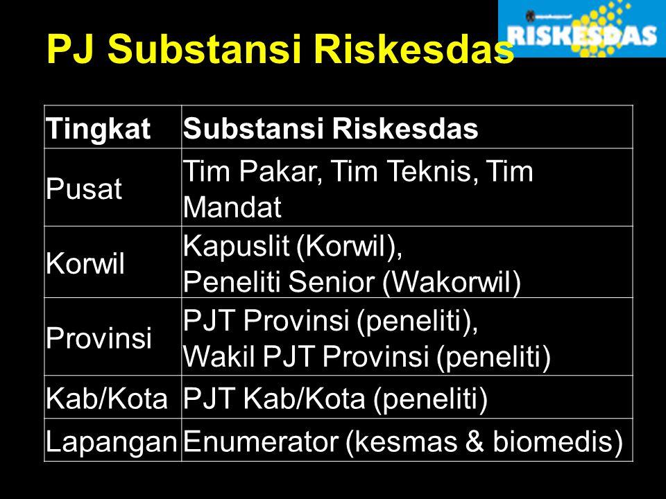 PJ Substansi Riskesdas