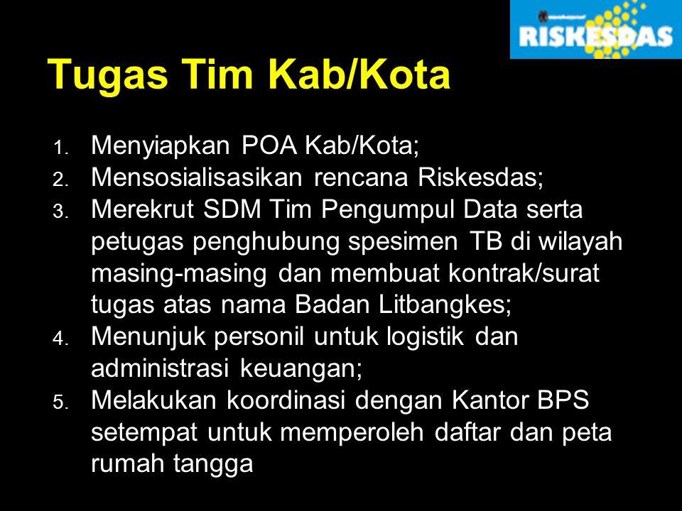 Tugas Tim Kab/Kota Menyiapkan POA Kab/Kota;
