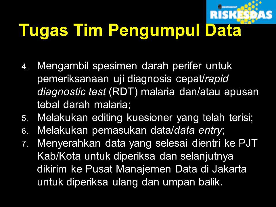 Tugas Tim Pengumpul Data