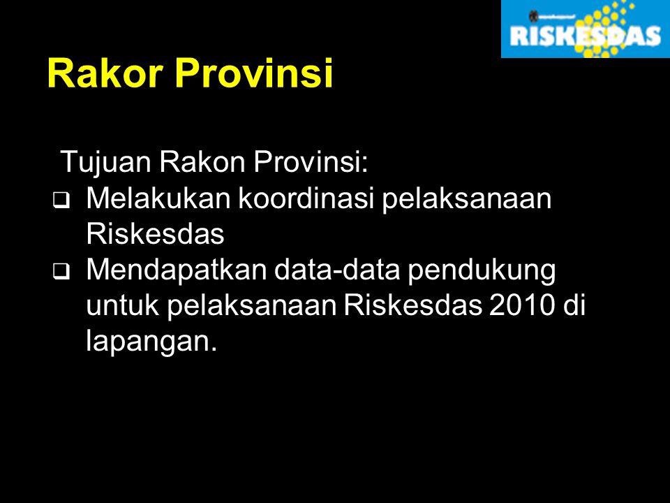 Rakor Provinsi Tujuan Rakon Provinsi: