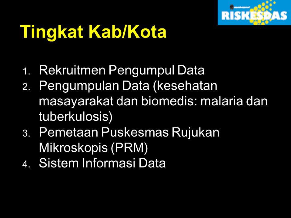 Tingkat Kab/Kota Rekruitmen Pengumpul Data