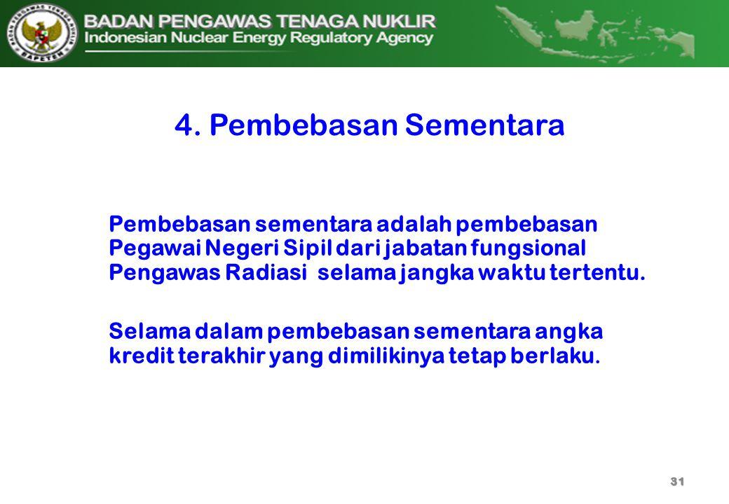 4. Pembebasan Sementara