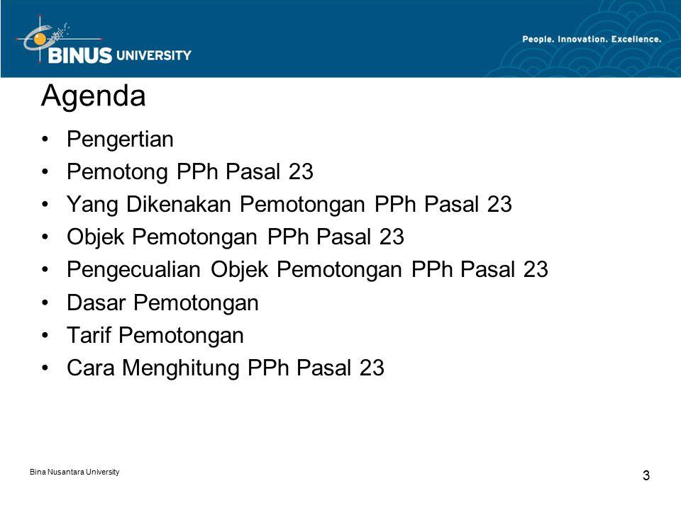 Agenda Pengertian Pemotong PPh Pasal 23