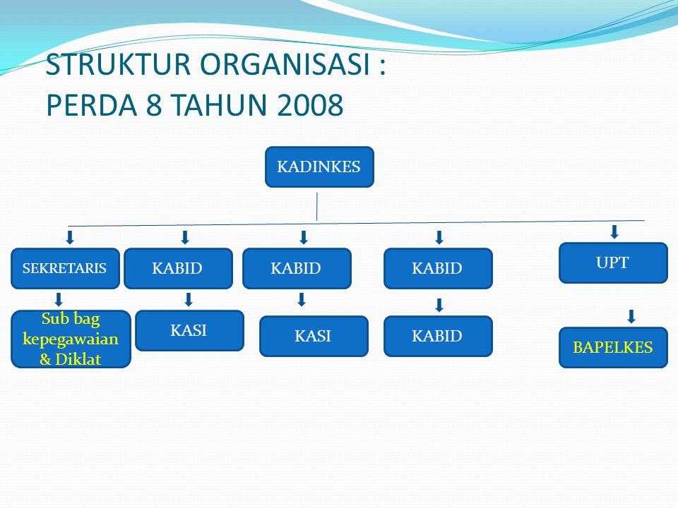 STRUKTUR ORGANISASI : PERDA 8 TAHUN 2008