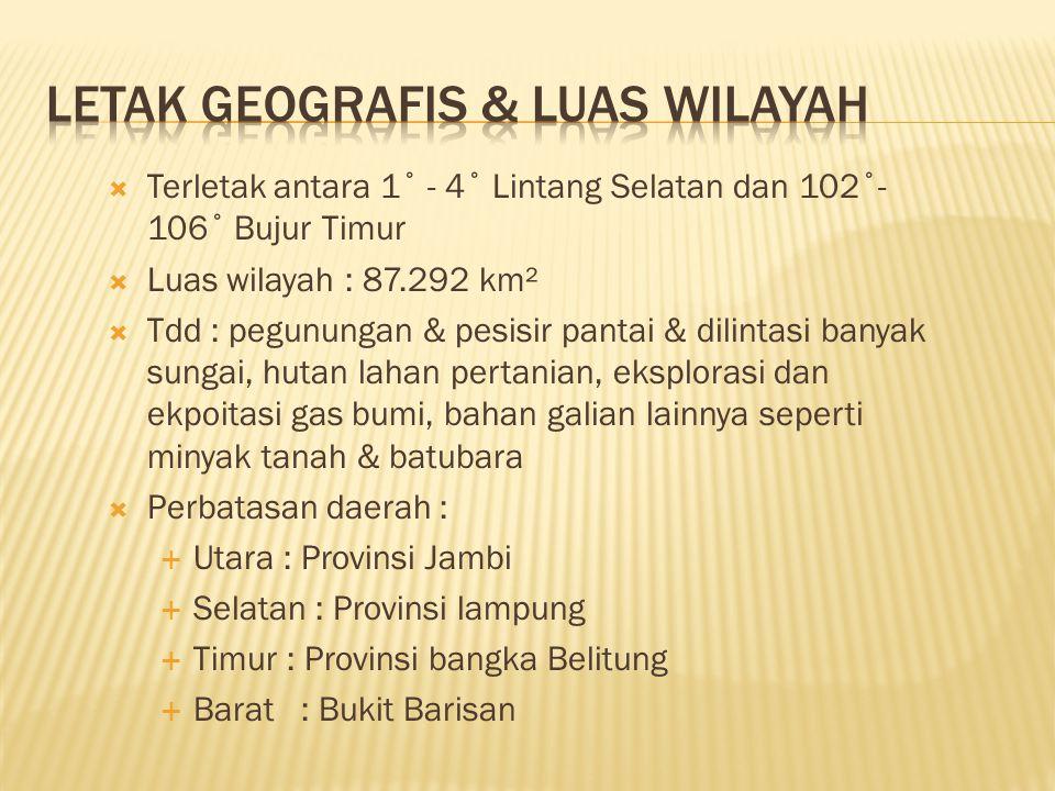 Letak Geografis & Luas Wilayah