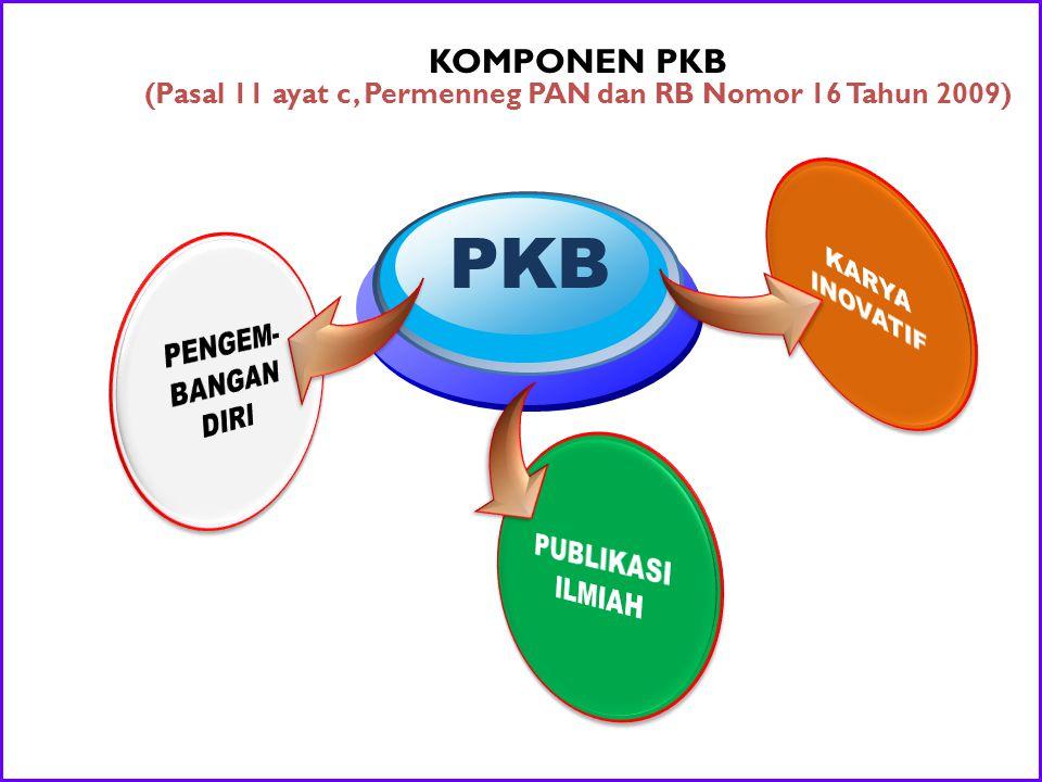 (Pasal 11 ayat c, Permenneg PAN dan RB Nomor 16 Tahun 2009)
