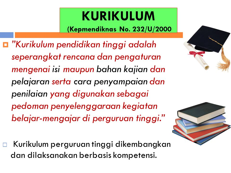 KURIKULUM (Kepmendiknas No. 232/U/2000