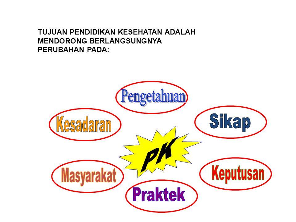 Pengetahuan PK Sikap Kesadaran Keputusan Masyarakat Praktek