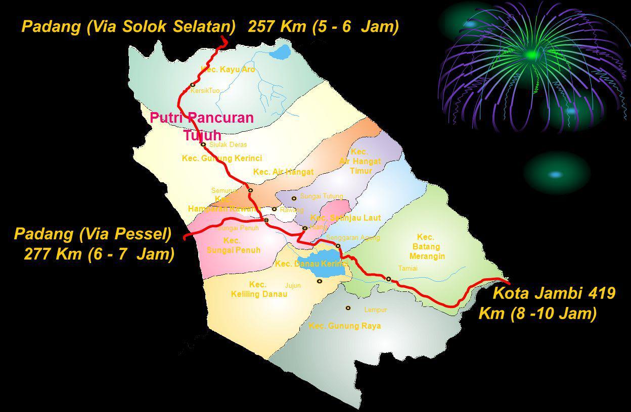 Padang (Via Solok Selatan) 257 Km (5 - 6 Jam)