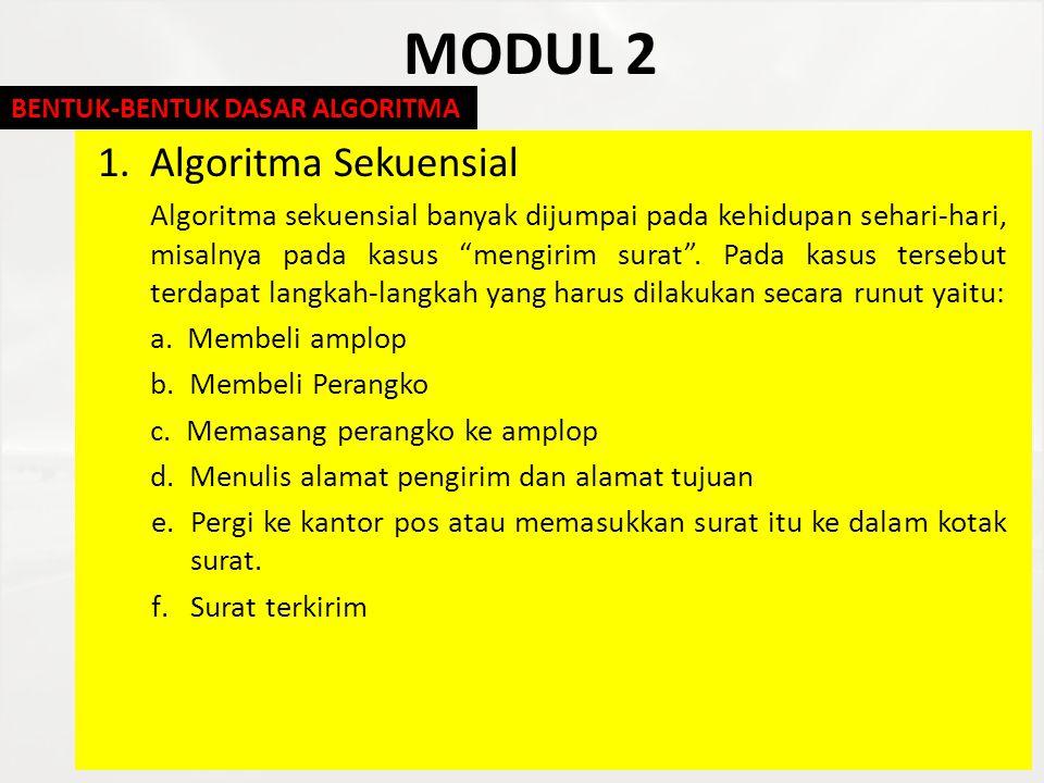 MODUL 2 Algoritma Sekuensial