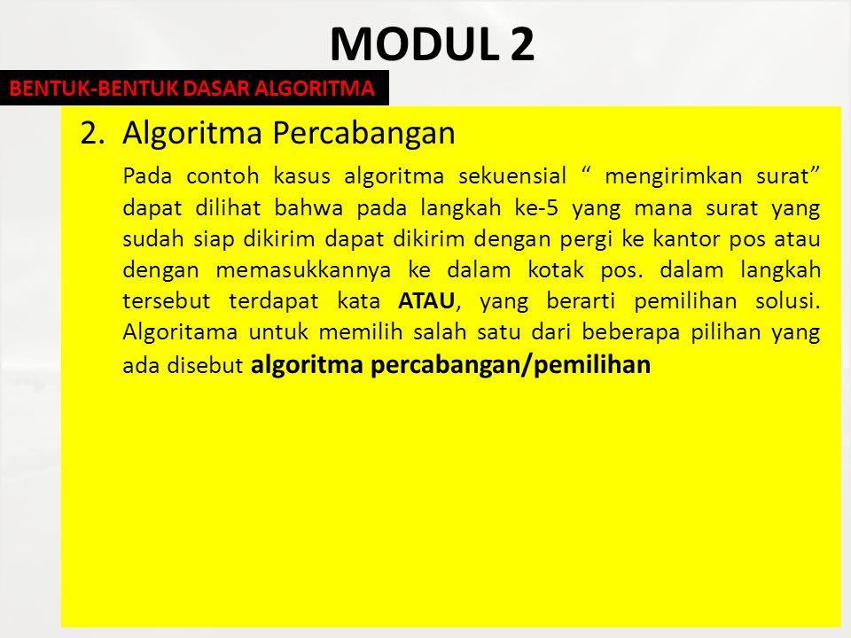 MODUL 2 2. Algoritma Percabangan