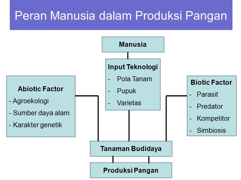 Peran Manusia dalam Produksi Pangan