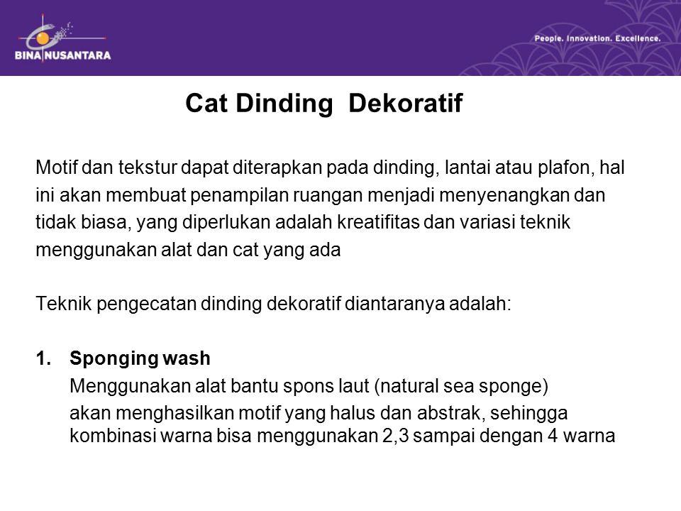Cat Dinding Dekoratif Motif dan tekstur dapat diterapkan pada dinding, lantai atau plafon, hal.