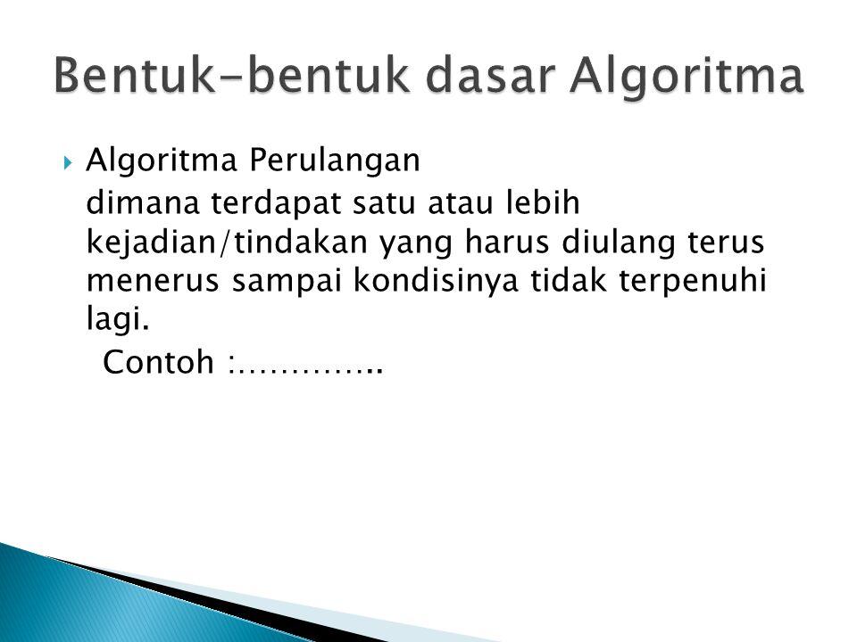 Bentuk-bentuk dasar Algoritma